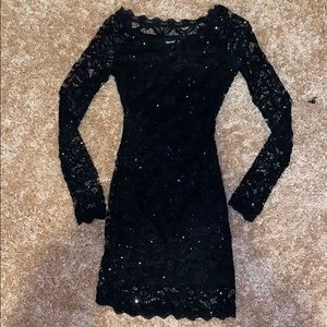 Tight Black sparkly lace dress